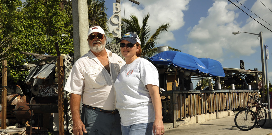 For the perfect fish sandwich, head to B.O.'s Fish Wagon in Key West, Florida.